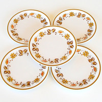 Mikasa 1970s Salad Plates Eastwood Cera Stone Set of 5 D1874 Discontinued