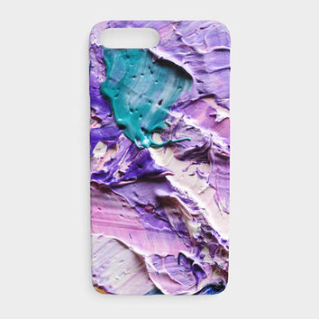 Abstract Purple Acrylic Paint Art Phone Case, Beautiful Purple Artwork Protective Phone Case for the Apple iPhone and Samsung Galaxy Devices