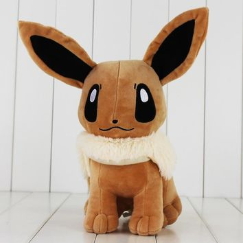 Japanese Anime Cute Eevee Plush Toy 33cm Dolls With Tag Gift for Kids Free Shipping