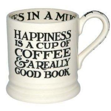 Black Toast Happiness 1/2 Pint Mug at Emma Bridgewater