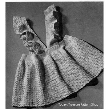 Pinafore Dress Crochet Pattern Size 2 3 | Todays Treasure Pattern Shop