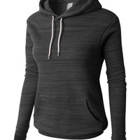 LE3NO PREMIUM Womens Basic Long Sleeve Fleece Pullover Hoodie Sweater