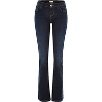 River Island Womens Dark wash Hailey low rise bootcut jeans