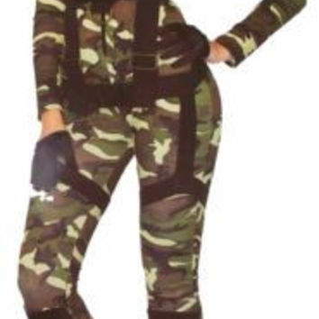 Leg Avenue Pretty Paratrooper Sexy Halloween Costume Cosplay Jumpsuit
