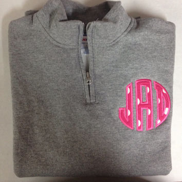 SALE!!! Kids Appliqued 1/4 Zip Pullover