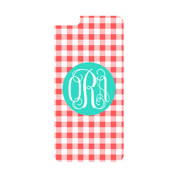 Coral Gingham iPhone 6/6s Plus Case (Apple)