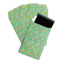 Mini Envelopes Paper Photo Sleeves Film Cover Green Floral for Fujifilm Instax Mini Films Polaroid Instant Photos