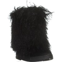 Bearpaw Boetis II Fur Calf Winter Boots, Black, 6 US / 37 EU