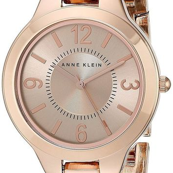 VLXZLP1 Anne Klein Women's Modern Link Rose Goldtone Bracelet Watch