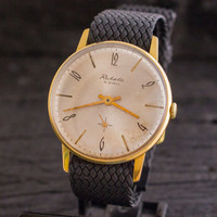Vintage Raketa mens watch gold plated russian watch ussr ccp soviet watch