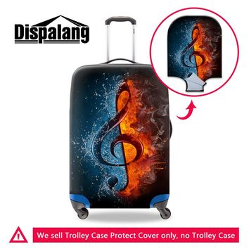 Dispalang musical note print luggage protective dust cover women travel baggage covers stretch suitcase cover travel accessories