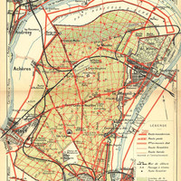 1924 Forest of Saint Germain Map, France