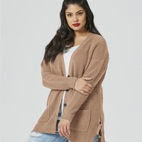 Fishermans Rib Tie Side Cardigan | SimplyBe US Site