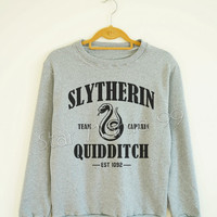 Slytherin Quidditch Shirt Slytherin Shirt Harry Potter Shirt Sweater Sweatshirt Jumpers Tee Long Sleeve Women Shirt Unisex Shirt SizeS,M,L