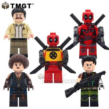 Deadpool Dead pool Taco TMGT 1set of  2 Movie Version Super Heroes Peter Domino Cable Action Figures Collect Building Blocks Children Gifts AT_70_6