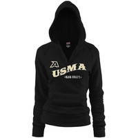 Juniors Soffe Black Army Black Knights Rugby V-Neck Hoodie