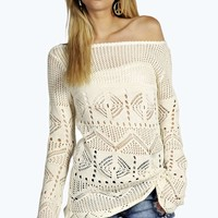 Tessa Crochet Knit Tunic Jumper