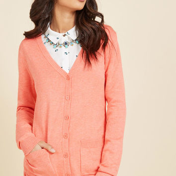 Have a Good Knit Cardigan in Carnation | Mod Retro Vintage Sweaters | ModCloth.com