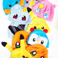 Ten Dollar Pokemon Hats  Cosplay Hat  Anime Kawaii by HappyCosmos