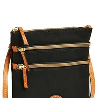 Women's Dooney & Bourke Triple Zip Nylon Crossbody Bag