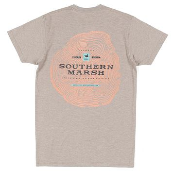 Origins Crosscut Tee in Washed Burnt Taupe by Southern Marsh - FINAL SALE