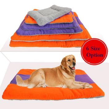 Soft Warm Cushion Double Side Using Fluffy Washable Blanket Bed