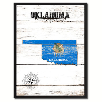 Oklahoma State Flag Gifts Home Decor Wall Art Canvas Print Picture Frames