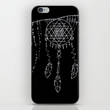 Shri Yantra / Dream Catcher iPhone & iPod Skin by Angelina May
