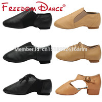 Quality Genuine Leather Jazz Dance Sneakers Dancing Shoes for Ladies Men Black tan Sports Jazz Dance Shoes For Adults & Children