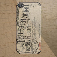 Disney World Ticket custom design available for iphone 4/4s,5/5s/5c and samsung galaxy S3/S4/S5 case