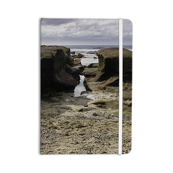 "Nick Nareshni ""Stones Leading To Ocean"" Brown Blue Everything Notebook"