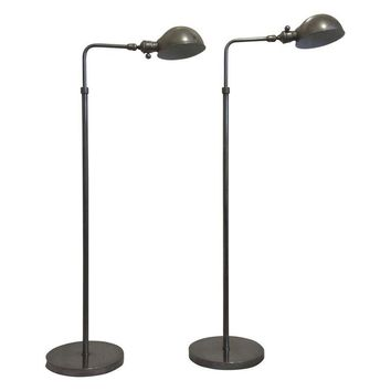 Pre-owned Chrome 1930's Mid Century Floor Lamps - A Pair