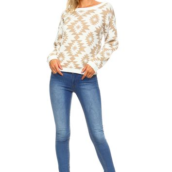 Women's Aztec Print Sweater