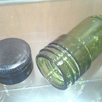 Stash jar, Recyled / Upcycled Wine Bottle Stash Jar (Great for concentrates, oils, herbs, tiny keepsakes)