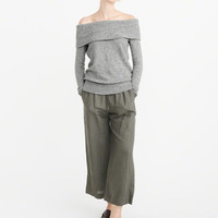 Womens Off-The-Shoulder Sweater | Womens New Arrivals | Abercrombie.com