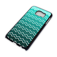 OMBRE TEAL CHEVRON Pattern Samsung Galaxy S6 Case