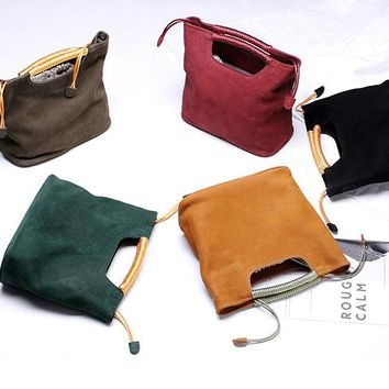 Autumn and winter Leather Shopping handbag