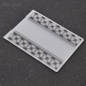 She Love Plastic Embossing Folder For Scrapbooking Flower Template Stencil Paper Card Decoration DIY Papercraft