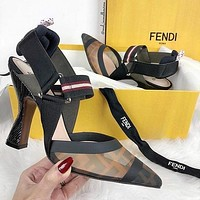 shosouvenir Fendi fashion casual tennis sandals