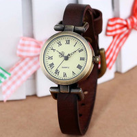 leather female watch ROMA vintage watch women dress watches