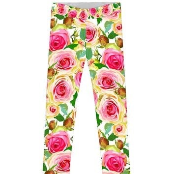 Rosarium Lucy Cute Stylish Floral Printed Leggings - Girls