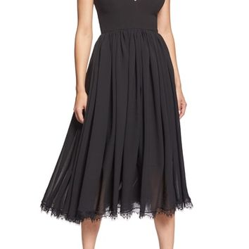 Dress the Population Corey Chiffon Fit & Flare Dress | Nordstrom