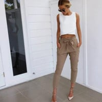 Valentina High-Waisted Trousers
