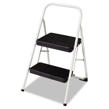 Cosco CSC-11135CLGG1 2-Step Folding Steel Step Stool, 200lbs-1 count