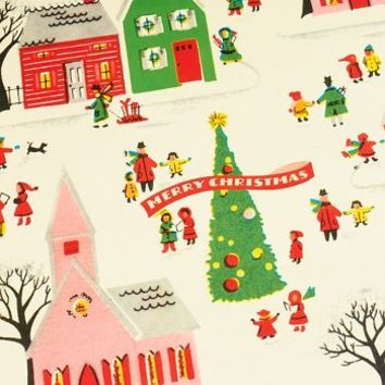 Cavallini Christmas Village Wrapping Paper