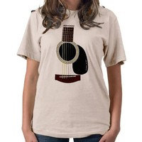 acoustic guitar T T-shirt from Zazzle.com