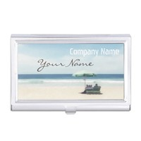 Relaxation Beach Elegant Spa Travel vacation Business Card Case