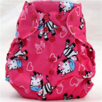 Cloth diaper cover, size adjustable