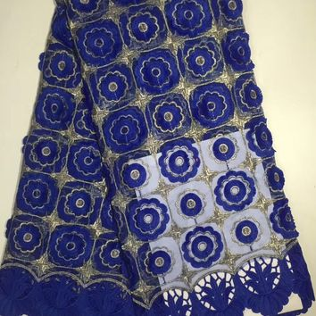 2018 New design french mesh lace with cotton lace, high quality african lace fabric for wedding dress , free shipping