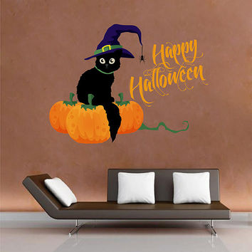 kcik1652 Full Color Wall decal greeting halloween coffee shop showcase